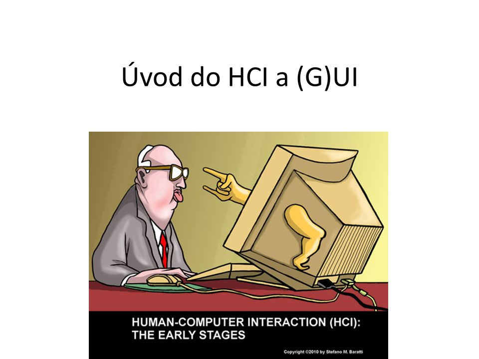 Úvod do HCI a (G)UI