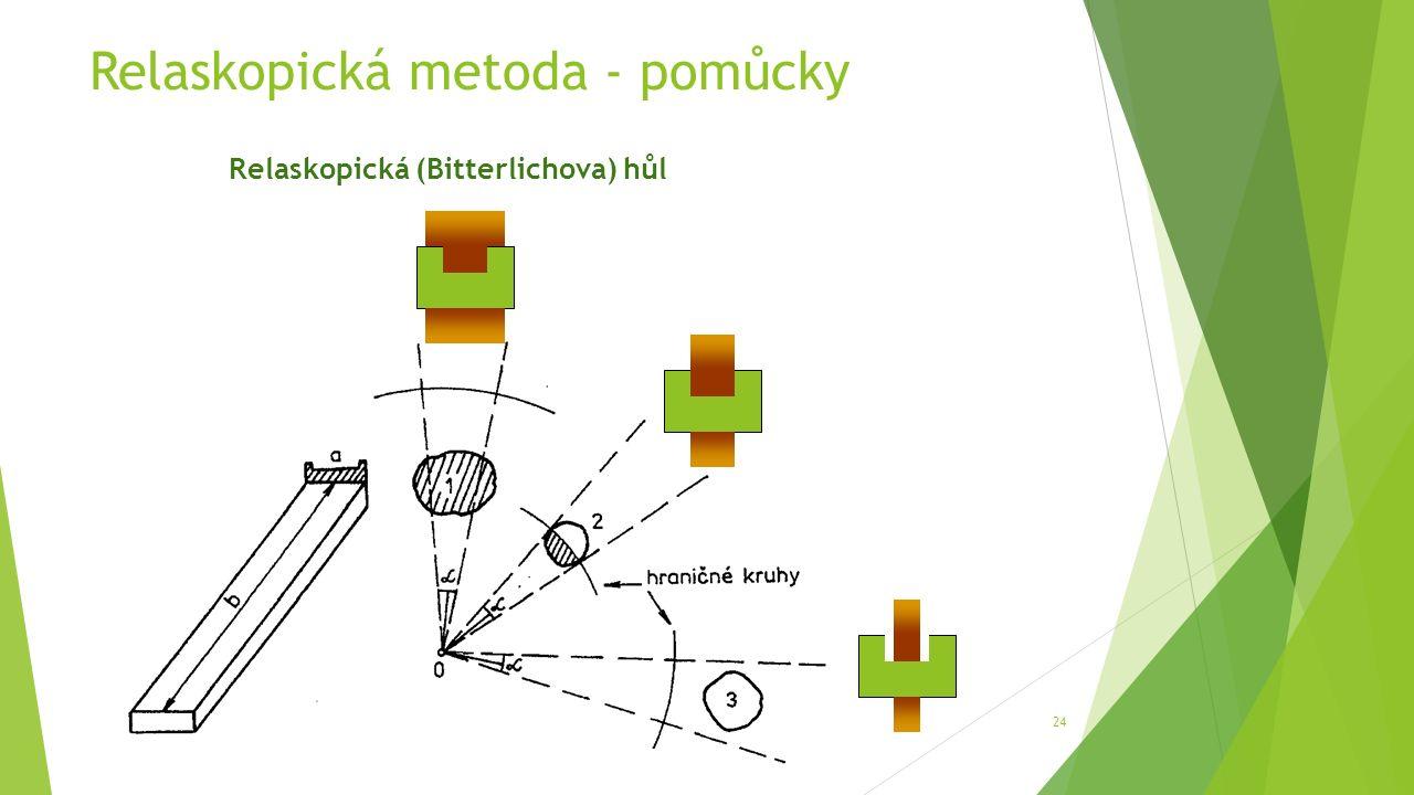 Relaskopická metoda - pomůcky 24 Relaskopická (Bitterlichova) hůl