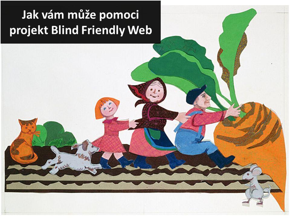 Jak vám může pomoci projekt Blind Friendly Web