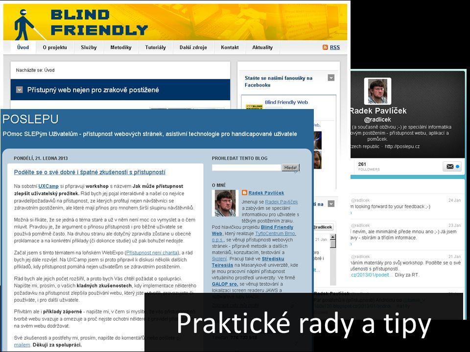 Praktické rady a tipy