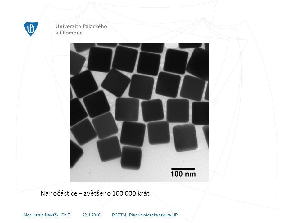 Nanočástice – zvětšeno 100 000 krát