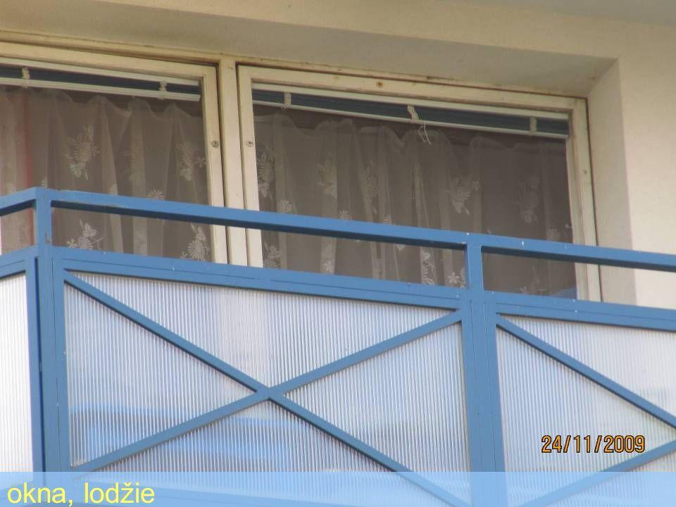 Okna, lodžie okna, lodžie