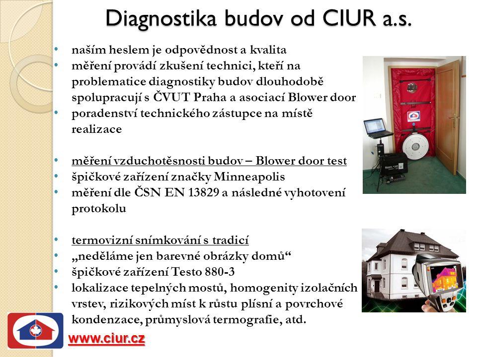 Diagnostika budov od CIUR a.s.