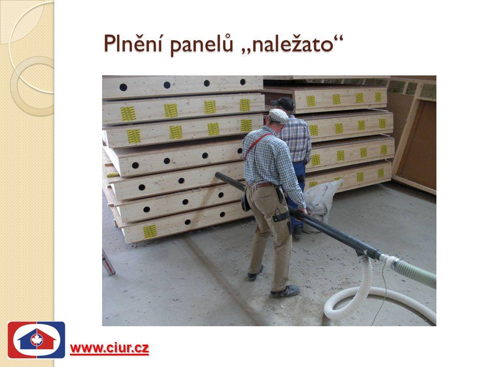 """www.ciur.cz Plnění panelů """"naležato"""