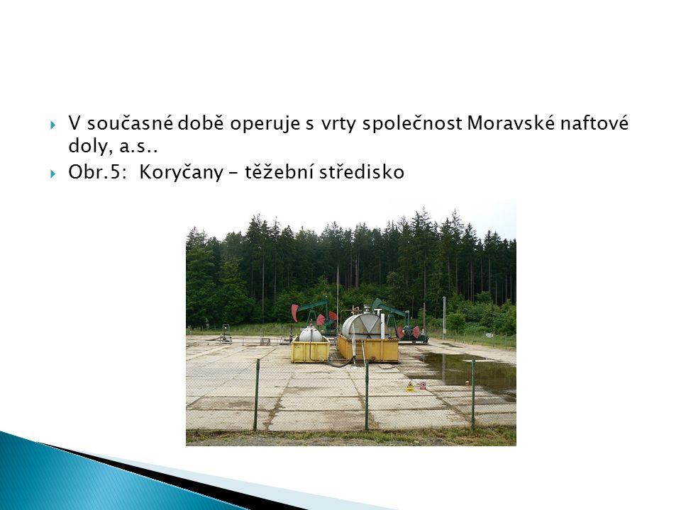  V současné době operuje s vrty společnost Moravské naftové doly, a.s..