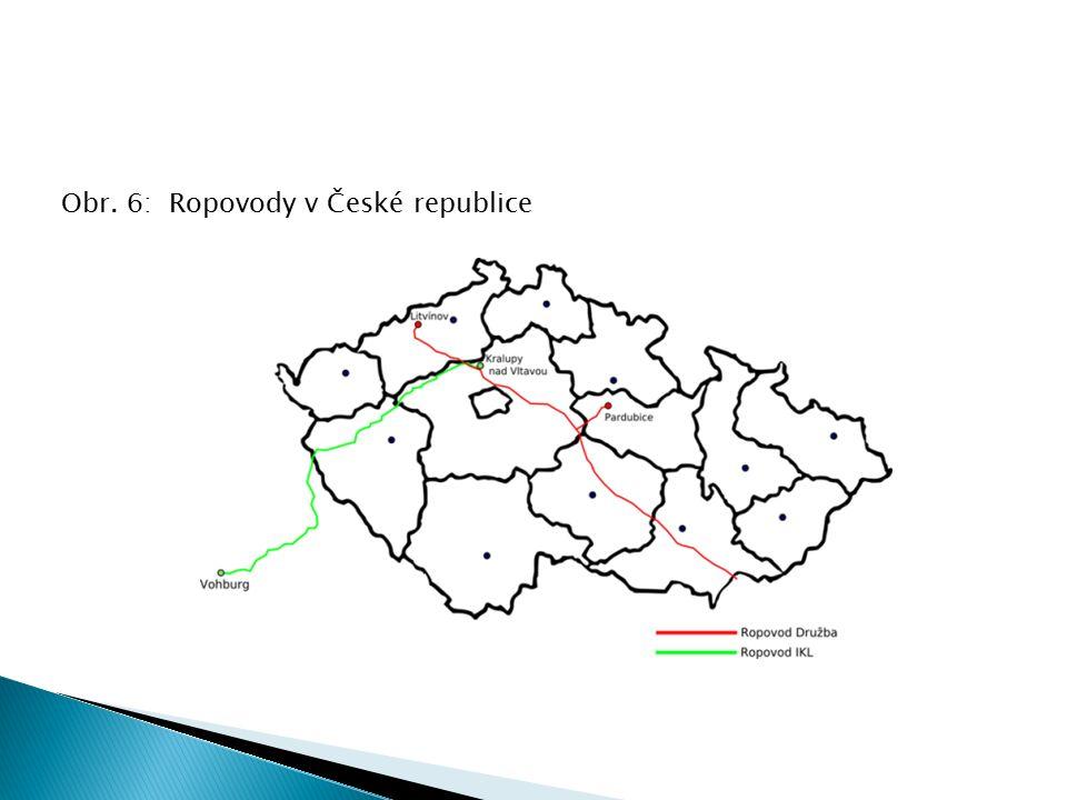 Obr. 6: Ropovody v České republice