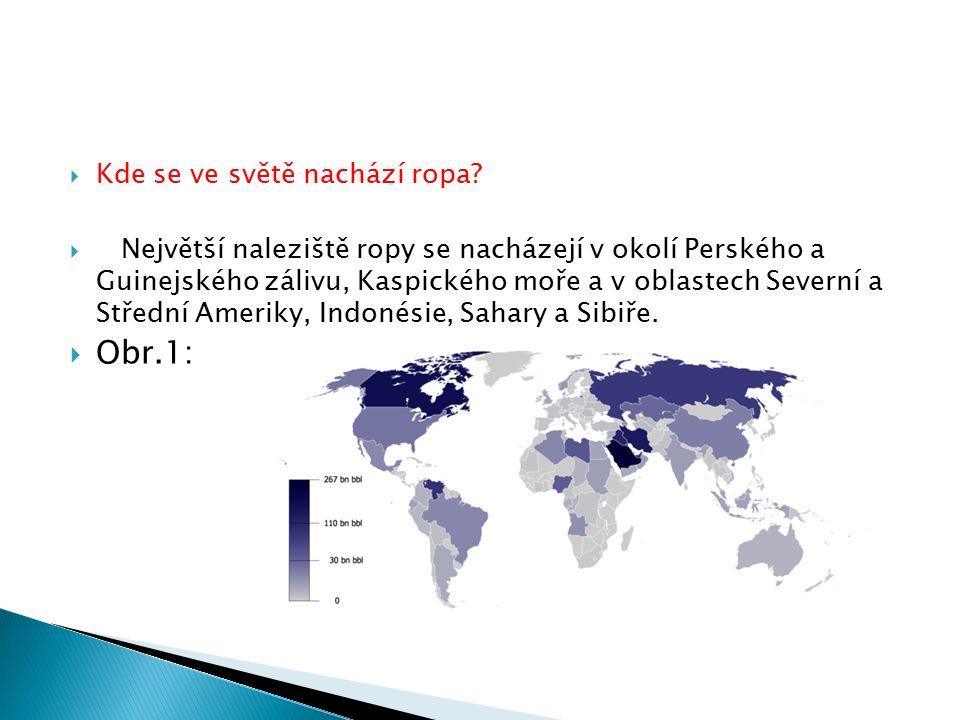  Kde se ve světě nachází ropa.