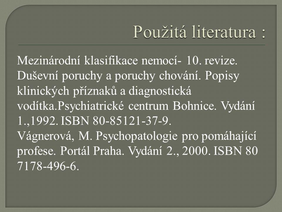 Téma sady: Psychopatologie Vzdělávací oblast: Duševní a behaviorální poruchy Vzdělávací obor: Psychologie Tematický okruh: Sebevražedné jednání Anotace: Prezentace s cvičeními aktivizaci žáků.