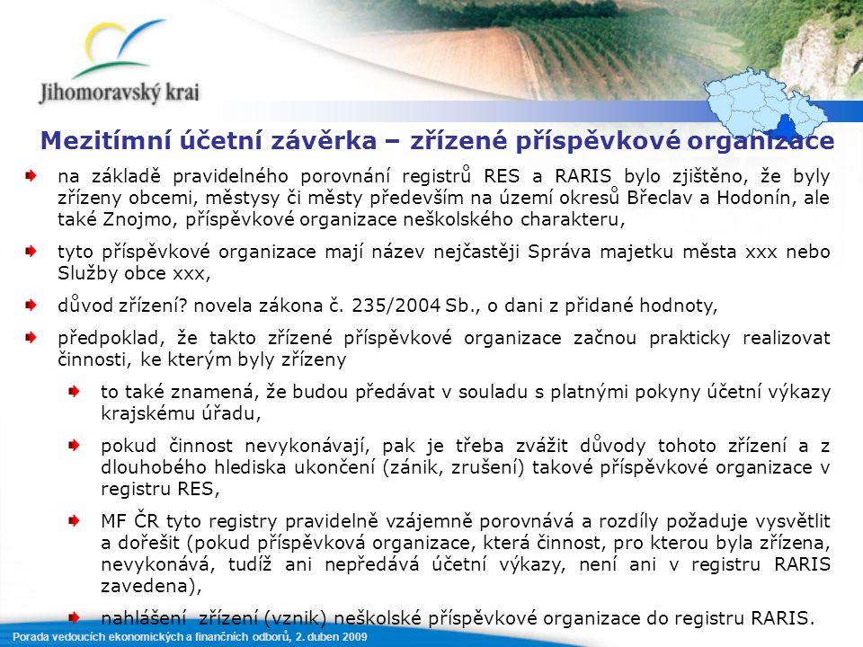 Porada vedoucích ekonomických a finančních odborů, 2.