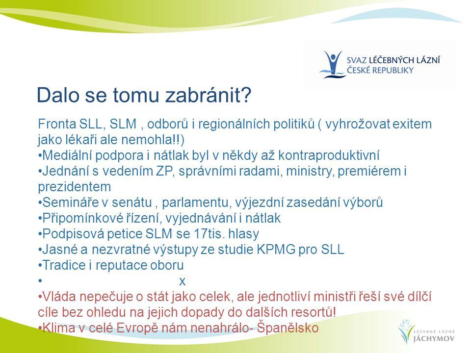 Fronta SLL, SLM, odborů i regionálních politiků ( vyhrožovat exitem jako lékaři ale nemohla!!) Mediální podpora i nátlak byl v někdy až kontraprodukti