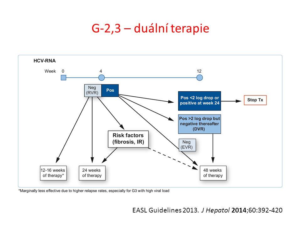G-2,3 – duální terapie EASL Guidelines 2013. J Hepatol 2014;60:392-420