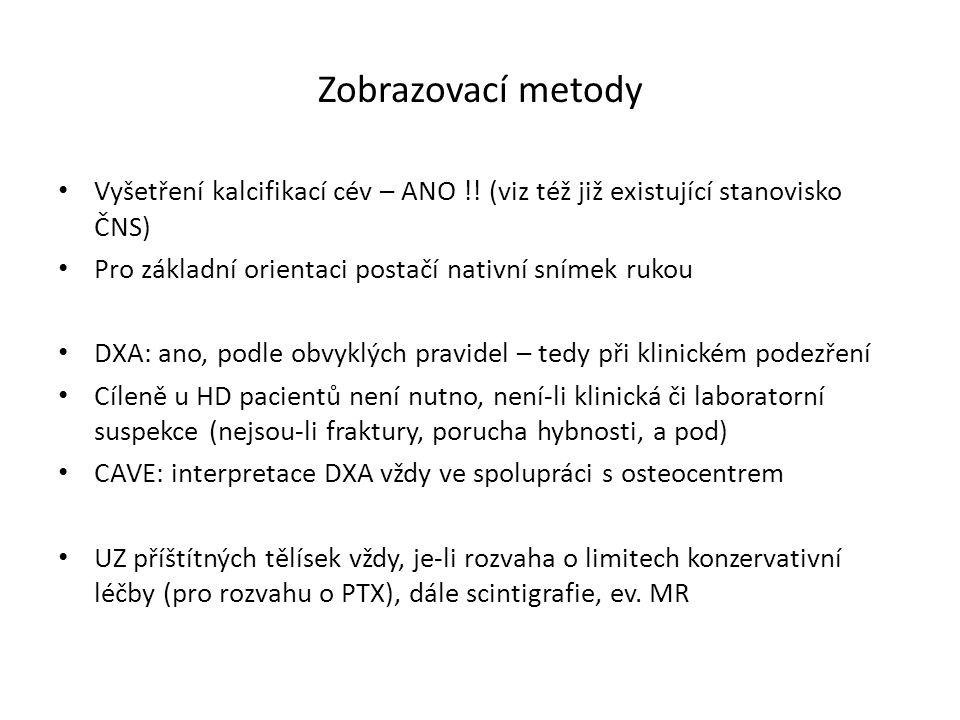 Zobrazovací metody Vyšetření kalcifikací cév – ANO !.