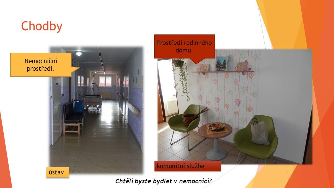Chodby Nemocniční prostředí. Chtěli byste bydlet v nemocnici? ústav Prostředí rodinného domu. komunitní služba