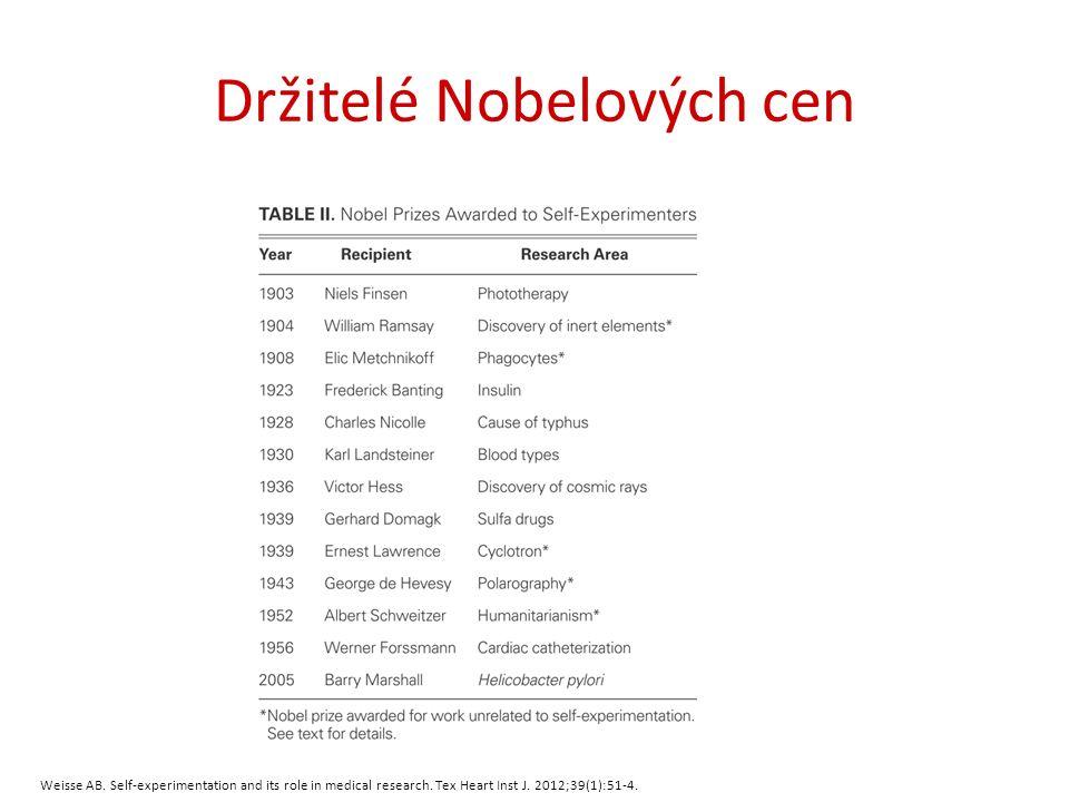 Ilja Iljič Mečnikov (1845-1916) Rusko 1882 (37 let) návratná horečka (vstříkl si nakaženou krev) Nobelova cena za fagocytózu 1908 (63 let)
