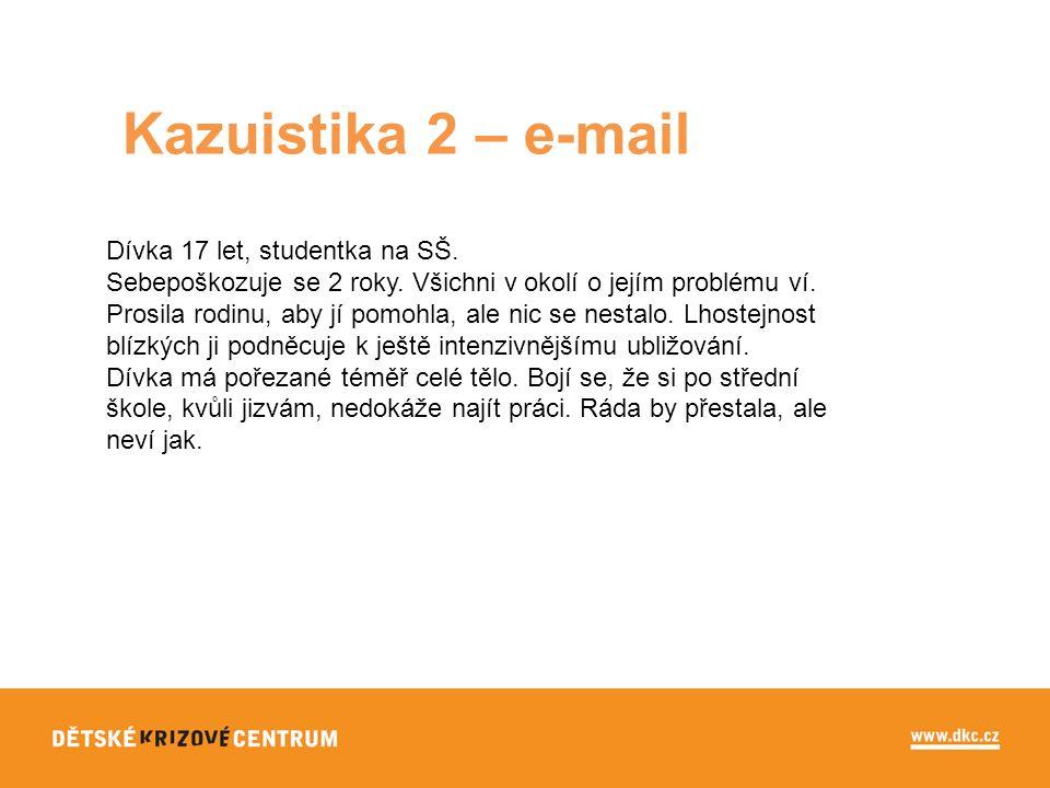 Kazuistika 2 – e-mail Dívka 17 let, studentka na SŠ.