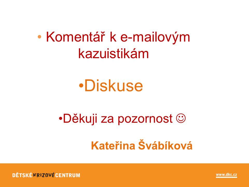 Komentář k e-mailovým kazuistikám Diskuse Děkuji za pozornost Kateřina Švábíková