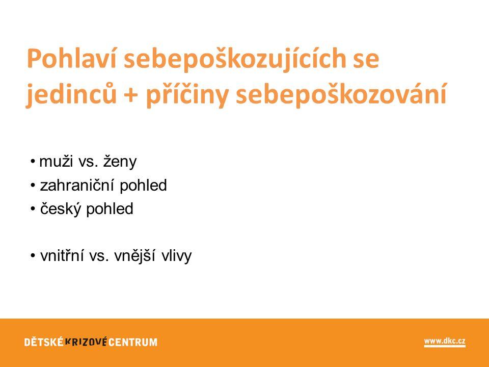 muži vs. ženy zahraniční pohled český pohled vnitřní vs.