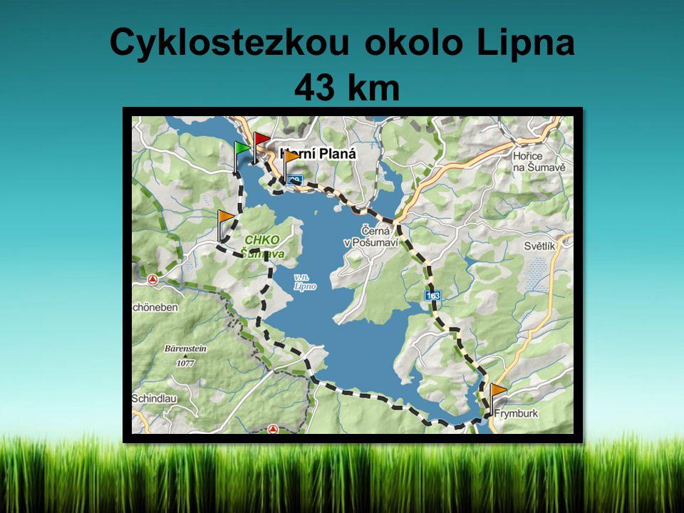 Cyklostezkou okolo Lipna 43 km