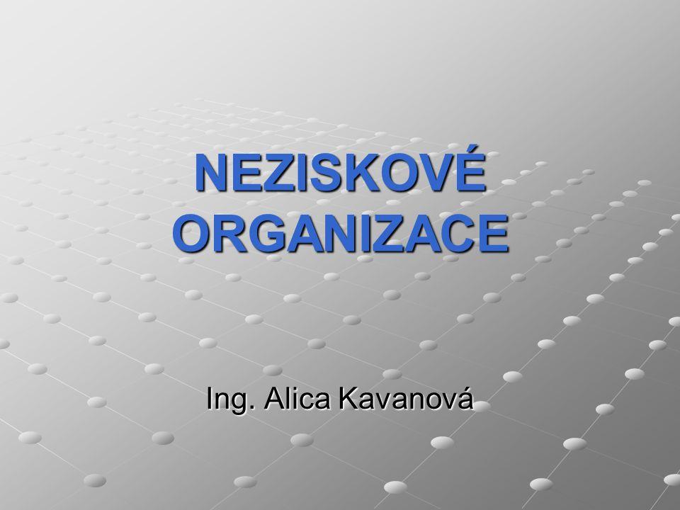 NEZISKOVÉ ORGANIZACE Ing. Alica Kavanová