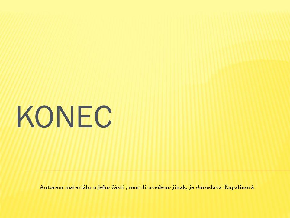 Autorem materiálu a jeho částí, není-li uvedeno jinak, je Jaroslava Kapalínová KONEC