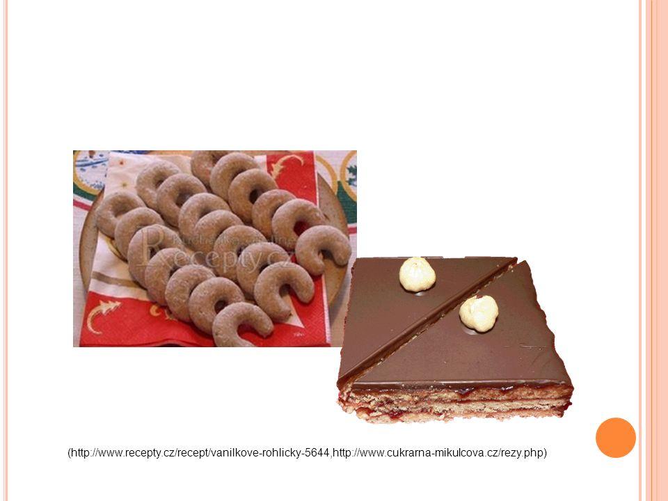 (http://www.recepty.cz/recept/vanilkove-rohlicky-5644,http://www.cukrarna-mikulcova.cz/rezy.php)
