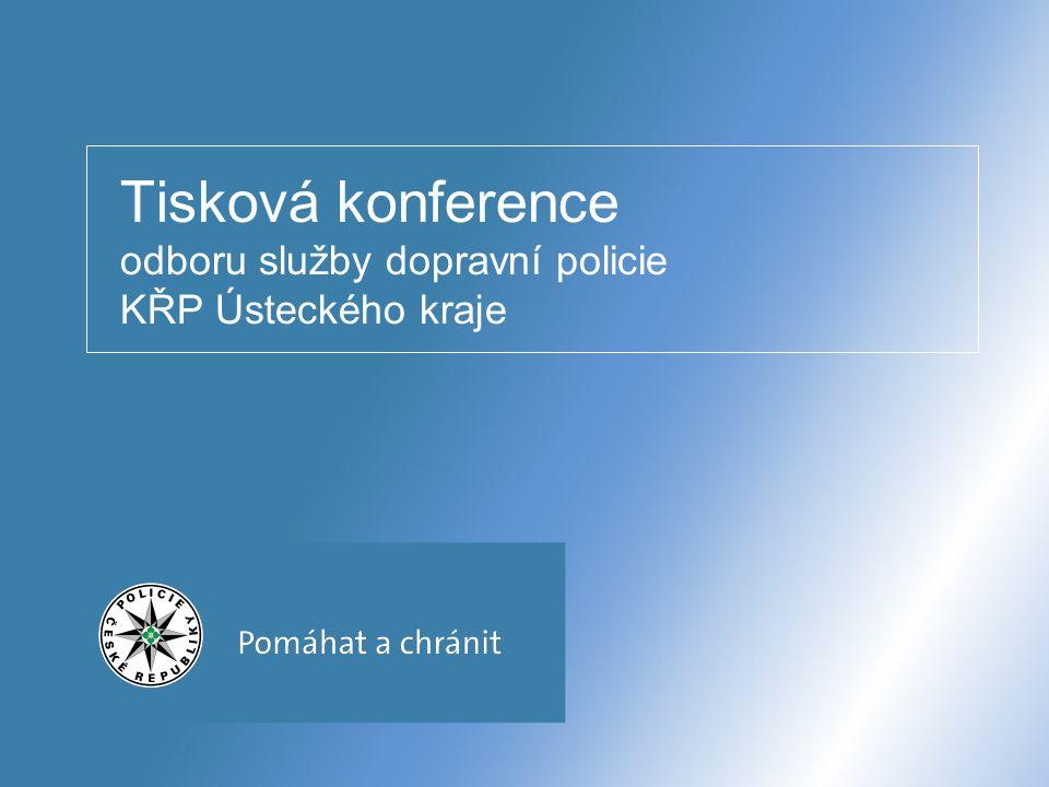Tisková konference odboru služby dopravní policie KŘP Ústeckého kraje
