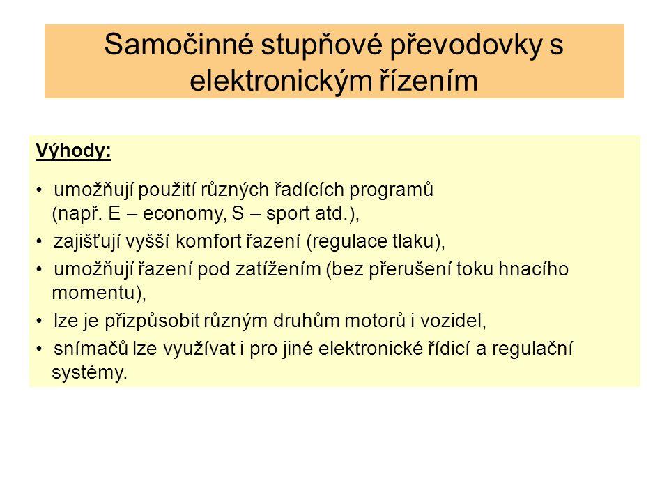 Výhody: umožňují použití různých řadících programů (např.