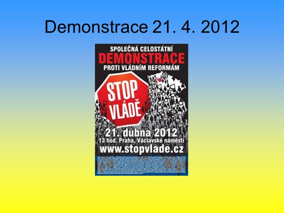 Demonstrace 21. 4. 2012
