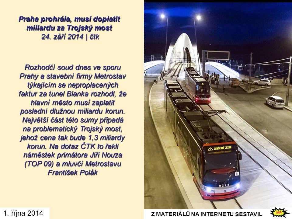 Náklady na stavbu mostu byly původně předpokládány na zhruba půl miliardy korun, po změně projektu ale vzrostly, nakonec se zřejmě vyšplhají až na 1,2 miliardy korun