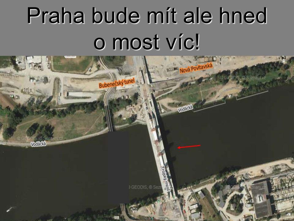 Z provizorního mostu pro tramvaje zbyla jen nájezdová vyhlídka