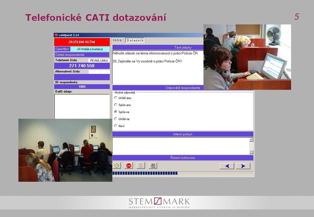 5 Telefonické CATI dotazování