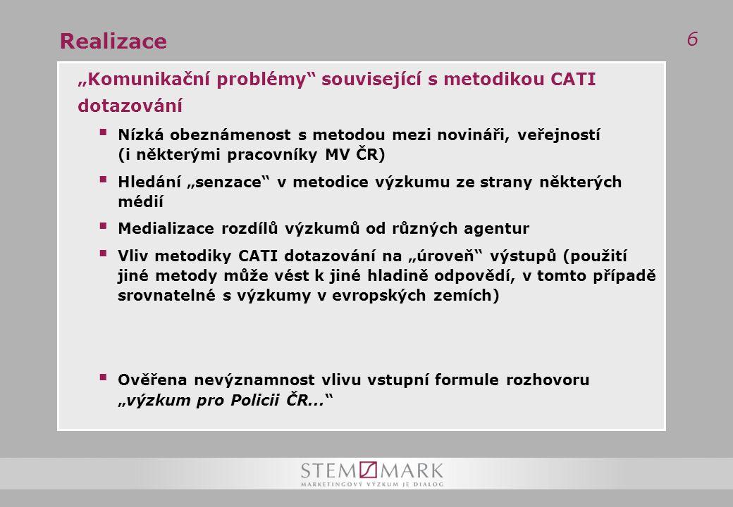 67 Negativní jevy v práci Policie ČR