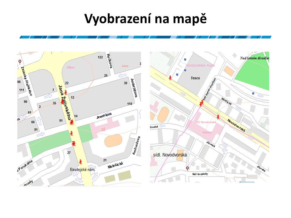 Vyobrazení na mapě