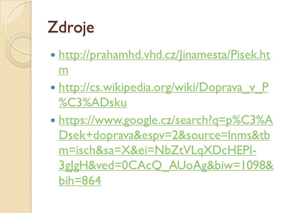 Zdroje http://prahamhd.vhd.cz/Jinamesta/Pisek.ht m http://prahamhd.vhd.cz/Jinamesta/Pisek.ht m http://cs.wikipedia.org/wiki/Doprava_v_P %C3%ADsku http://cs.wikipedia.org/wiki/Doprava_v_P %C3%ADsku https://www.google.cz/search q=p%C3%A Dsek+doprava&espv=2&source=lnms&tb m=isch&sa=X&ei=NbZtVLqXDcHEPI- 3gJgH&ved=0CAcQ_AUoAg&biw=1098& bih=864 https://www.google.cz/search q=p%C3%A Dsek+doprava&espv=2&source=lnms&tb m=isch&sa=X&ei=NbZtVLqXDcHEPI- 3gJgH&ved=0CAcQ_AUoAg&biw=1098& bih=864