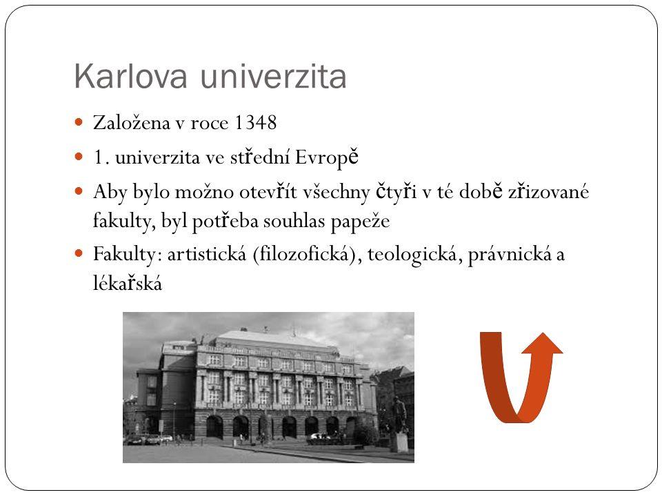 Karlova univerzita Založena v roce 1348 1.