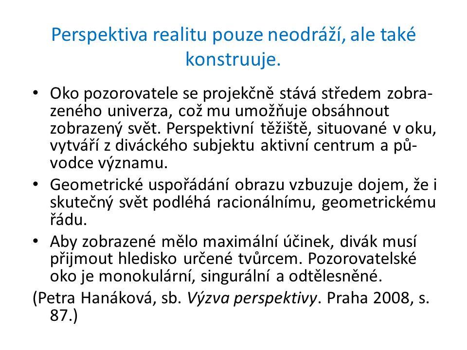 Perspektiva realitu pouze neodráží, ale také konstruuje.