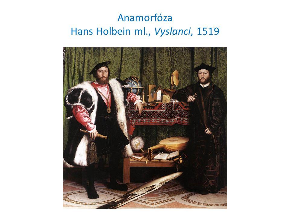 Anamorfóza Hans Holbein ml., Vyslanci, 1519