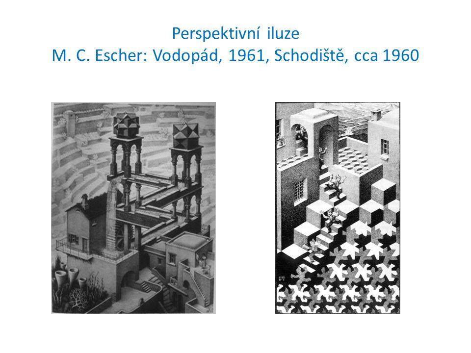 Perspektivní iluze M. C. Escher: Vodopád, 1961, Schodiště, cca 1960