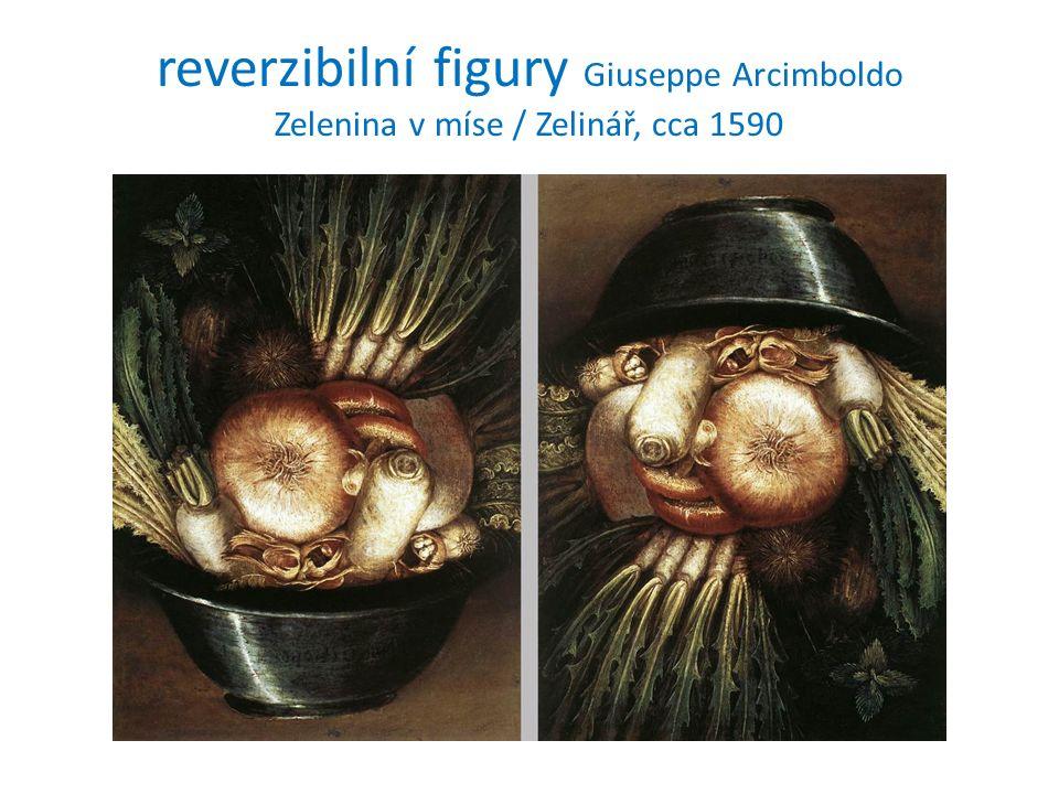 reverzibilní figury Giuseppe Arcimboldo Zelenina v míse / Zelinář, cca 1590
