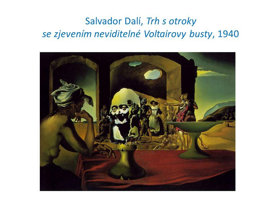 Salvador Dalí, Trh s otroky se zjevením neviditelné Voltairovy busty, 1940