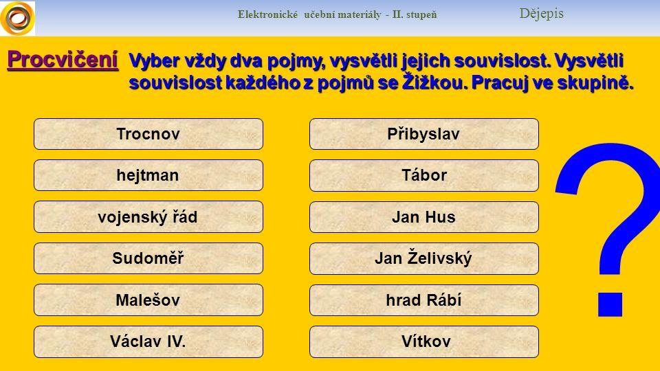 Elektronické učební materiály - II.stupeň Dějepis I would like to speak English about Jan Žižka.