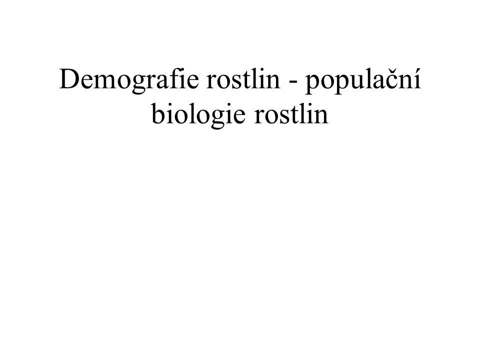 Demografie rostlin - populační biologie rostlin
