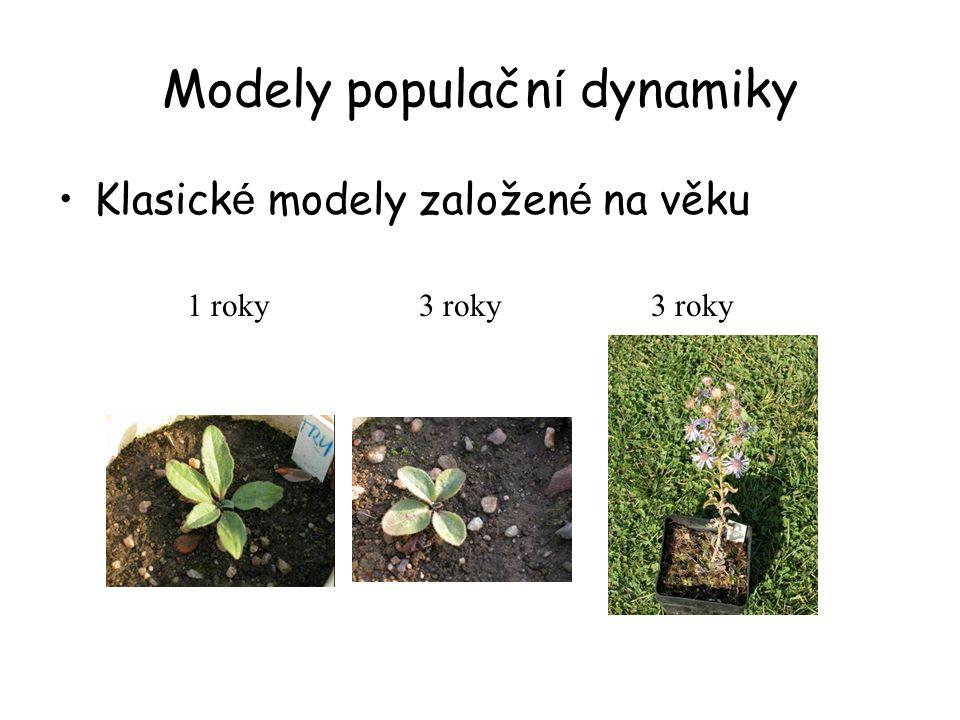 Modely populačn í dynamiky Klasick é modely založen é na věku 3 roky 1 roky