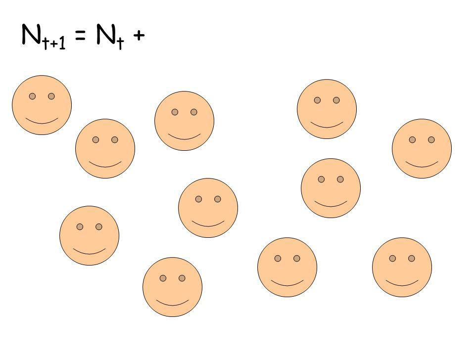 N t+1 = N t +