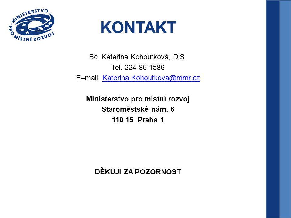 KONTAKT Bc. Kateřina Kohoutková, DiS. Tel.