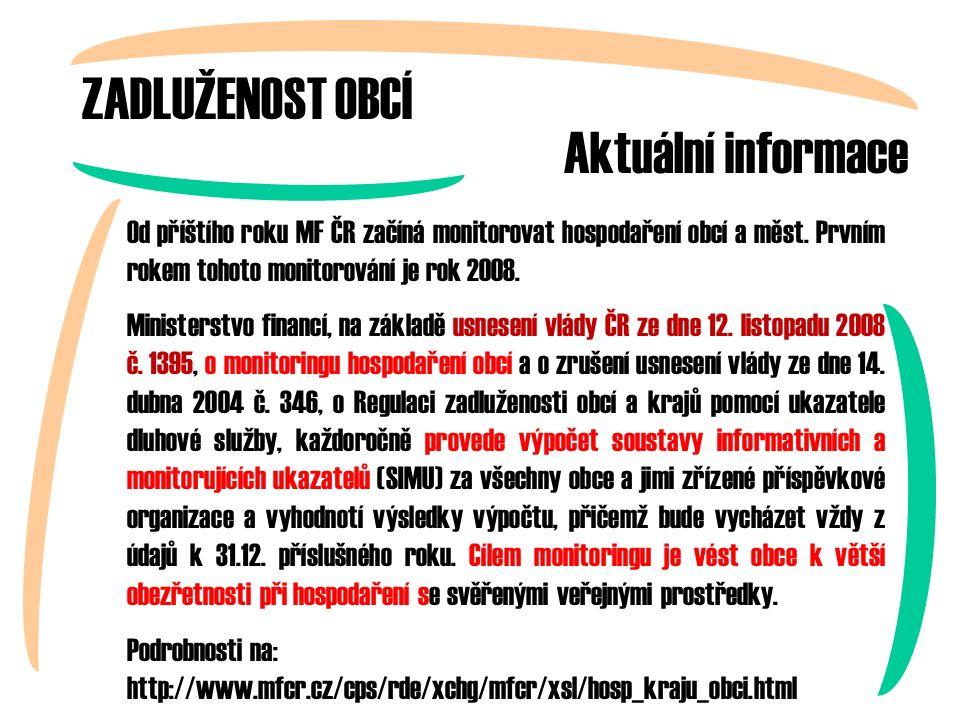 Od příštího roku MF ČR začíná monitorovat hospodaření obcí a měst.