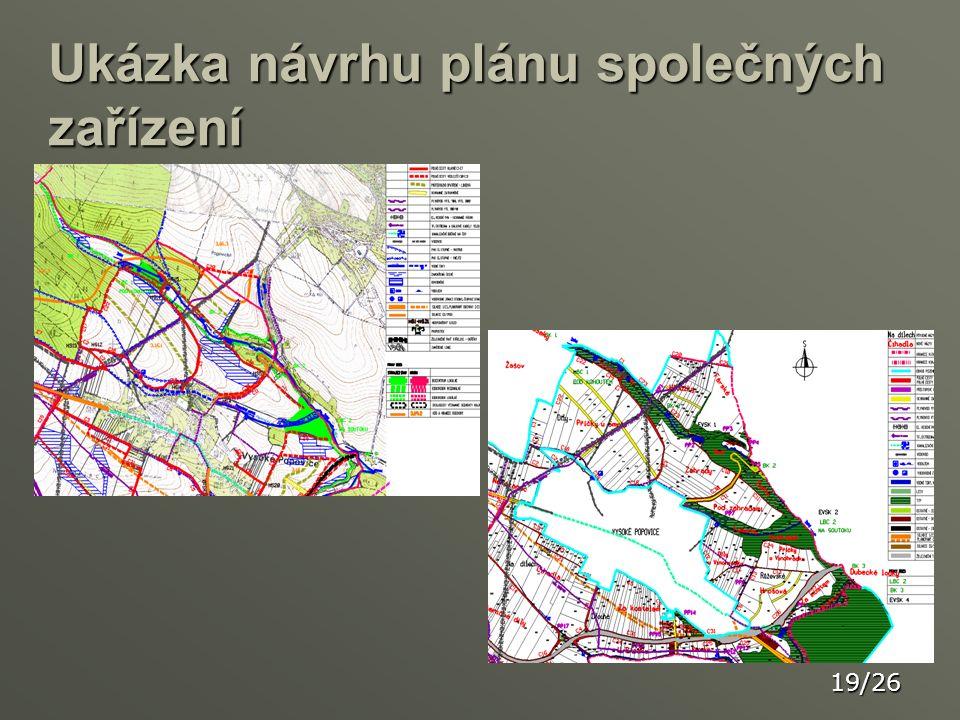 Ukázka návrhu plánu společných zařízení 19/26