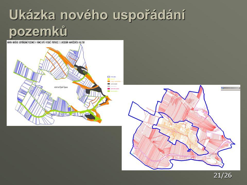Ukázka nového uspořádání pozemků 21/26