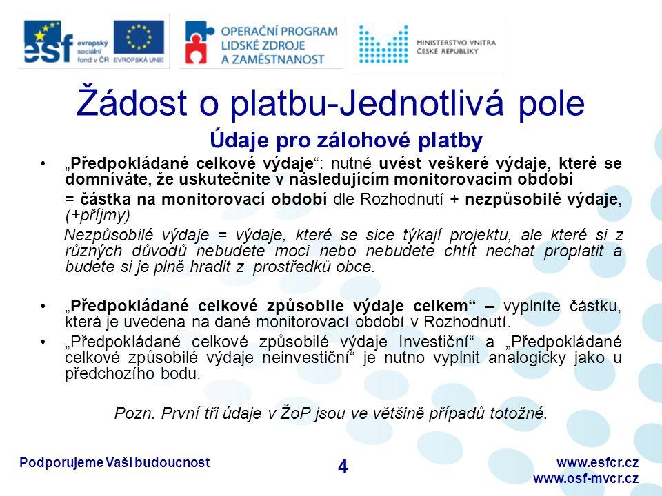 Podporujeme Vaši budoucnostwww.esfcr.cz www.osf-mvcr.cz Dotazy/diskuze Děkuji za pozornost 25