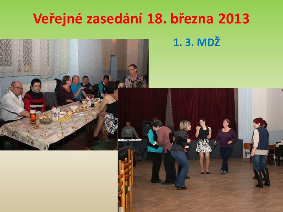 Veřejné zasedání 18. března 2013 1. 3. MDŽ